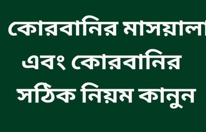 কোরবানির নিয়ম কানুন